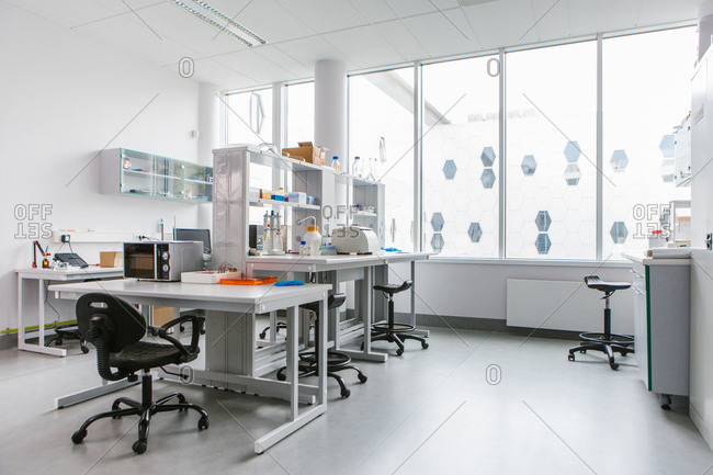 Tables in modern laboratory