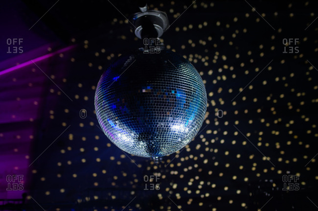 Disco ball with reflections