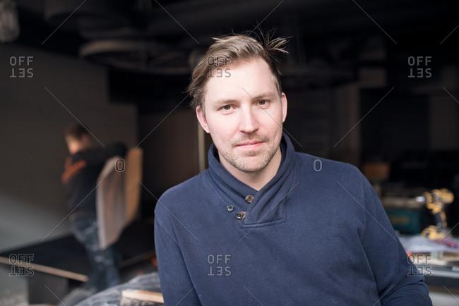 Portrait of a construction person on a job site