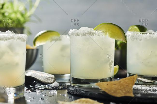 Fresh margaritas ready to drink