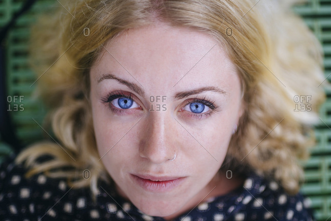 Costa Rica- portrait of woman with blue eyes