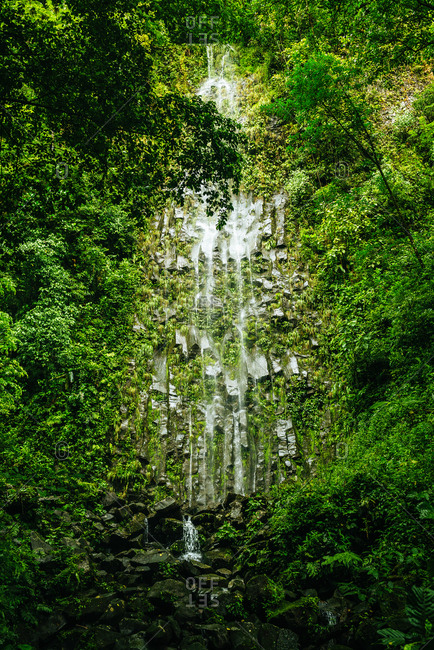 Costa Rica- Arenal Volcano National Park with the waterfall of La Fortuna