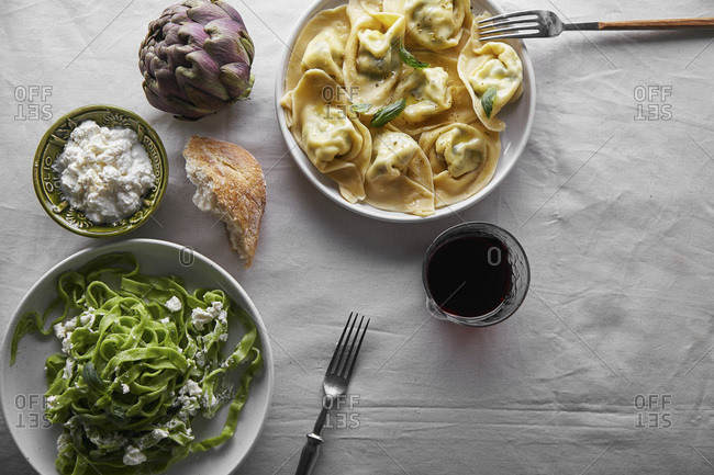 Traditional italian ravioli
