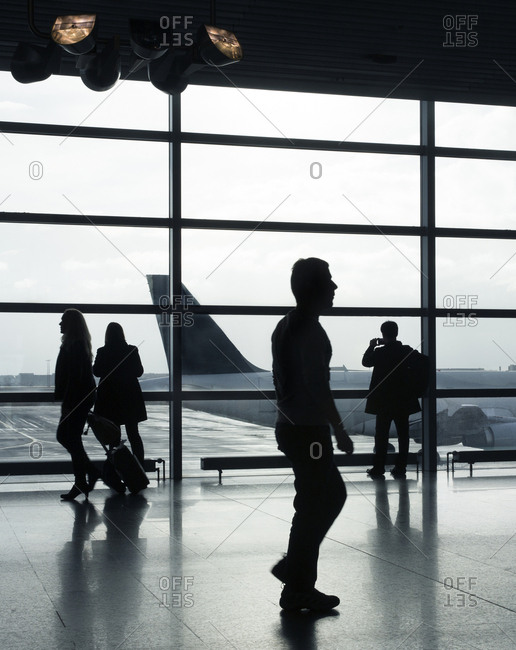 January 14, 2017 - Frankfurt, Germany: Passengers in the departure area at Frankfurt International Airport