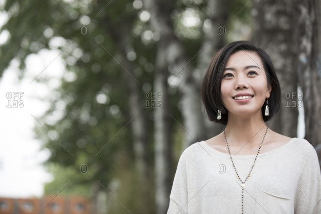 Beautiful young Chinese woman