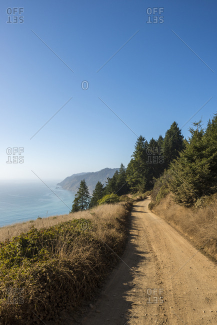 A dirt road on the Lost Coast in Mendocino County, California