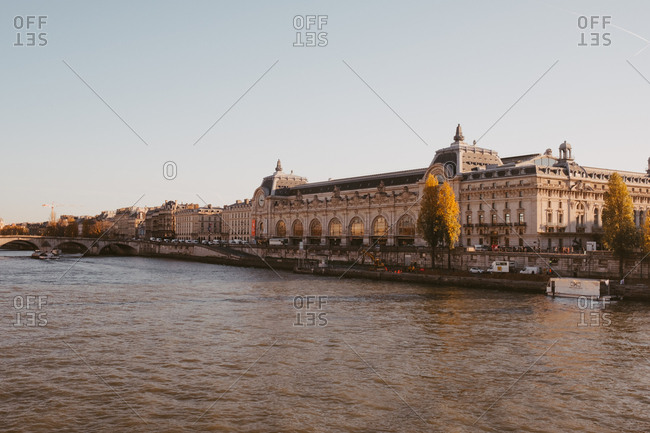 View of Musee d'Orsay from across the Seine