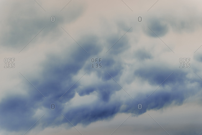 Abstract of overcast sky and storm clouds