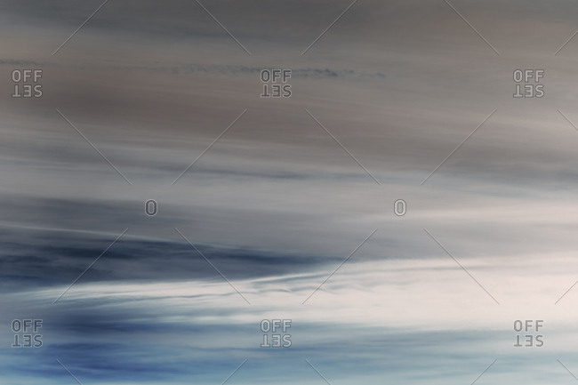 Abstract of overcast sky at dusk