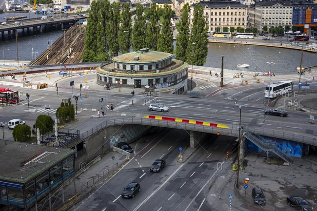 Stockholm, Sweden - July 15, 2014: City infrastructure