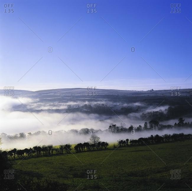 June 13, 2007: Co Antrim, Ireland; Mist Over A Landscape