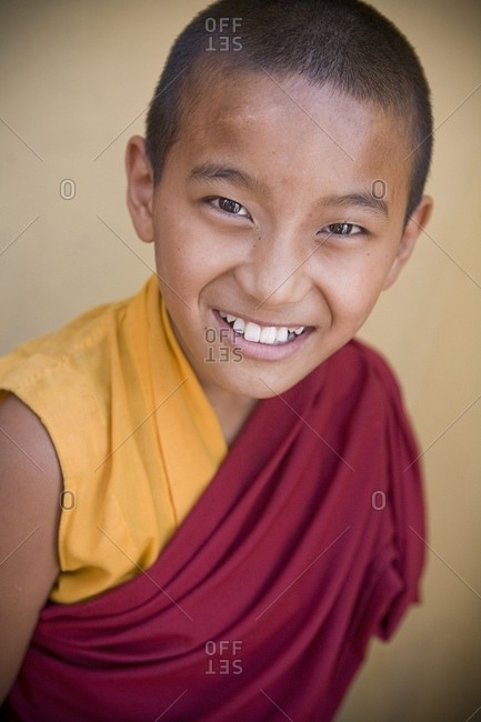 June 12, 2007: Boy Smiling At Camera; Boudhnath, Kathmandu, Nepal