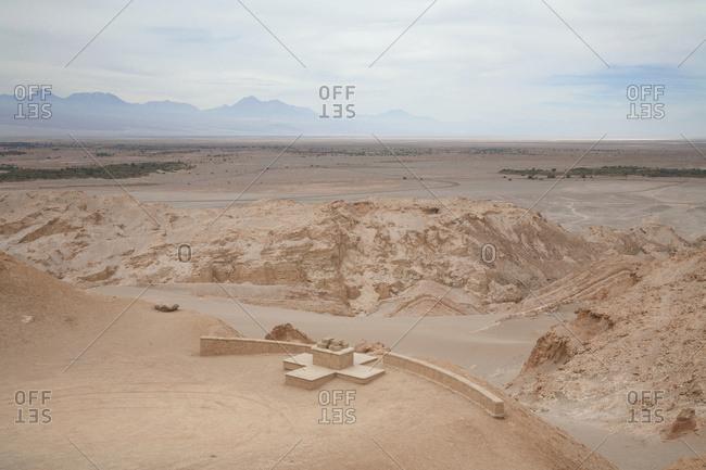 April 2, 2007: Death Valley In The Cordillera De La Sal, Antofagasta Region, Chile