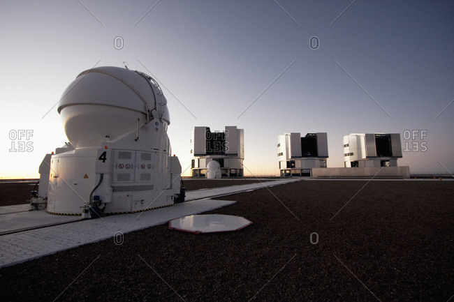 February 27, 2008: Auxiliary Telescope, Sun Unit Telescope 1, Moon Unit Telescope 2 & Southern Cross Unit Telescope 3, Belonging To The Very Large Telescope (Vlt) Operated By The European Southern Observatory At Paranal, Antofagasta Region, Chile