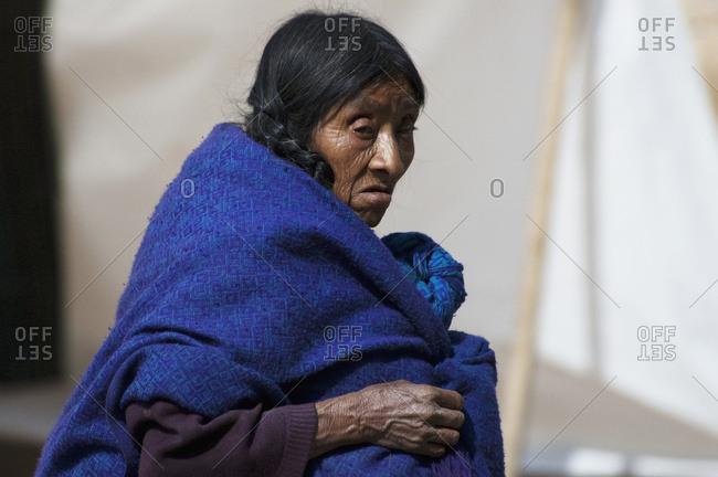 March 12, 2005: Old Tzotzil Maya Woman, San Cristobal De Las Casas, Chiapas, Mexico