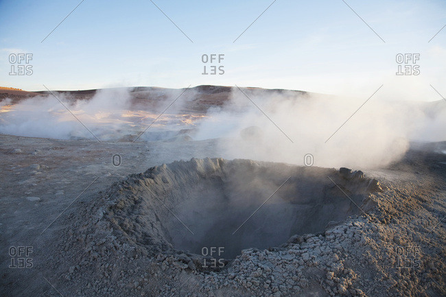 April 22, 2007: Sol de Manana, a geothermal field in Sur Lipez Province in south-western Bolivia