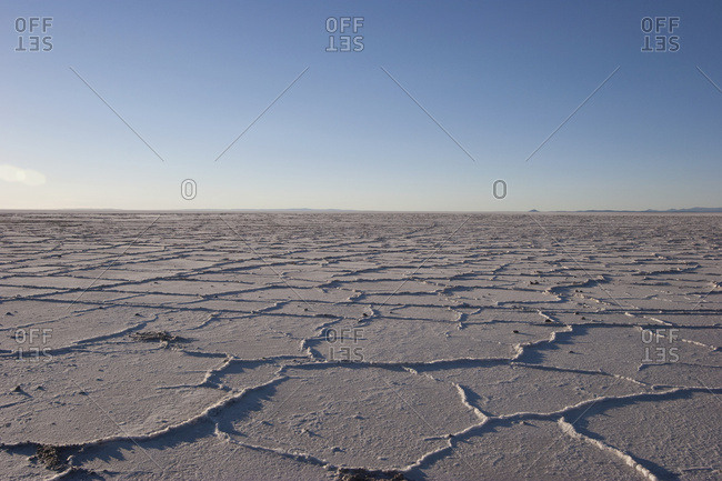 April 21, 2007: Salt Cells In The Salar De Uyuni, The World's Largest Salt Flat, Potosi Department, Bolivia