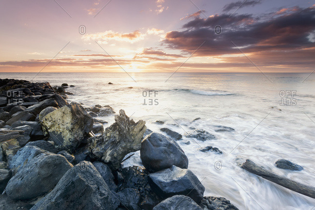 January 25, 2014: Sunrise From Lydgate Beach Park; Lydgate, Kauai, Hawaii, United States Of America