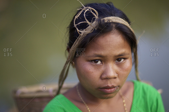 February 14, 2010: Portrait Of A Chakma Woman; Khagrachari, Chittagong Division, Bangladesh