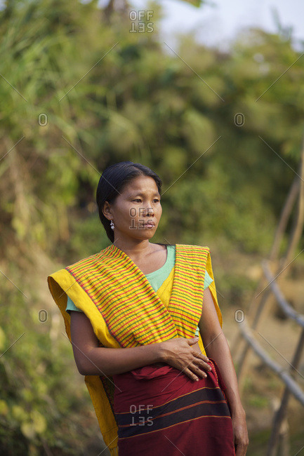 February 14, 2010: Portrait Of Chakma Woman; Khagrachari, Chittagong Division, Bangladesh