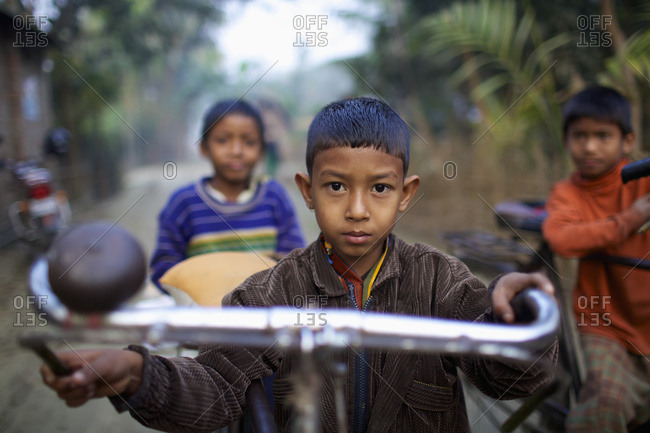 February 24, 2010: Young Boy On A Bicycle; Rangpur, Bangladesh