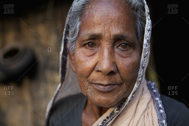 February 24, 2010: Portrait Of An Elderly Woman; Rangpur, Bangladesh