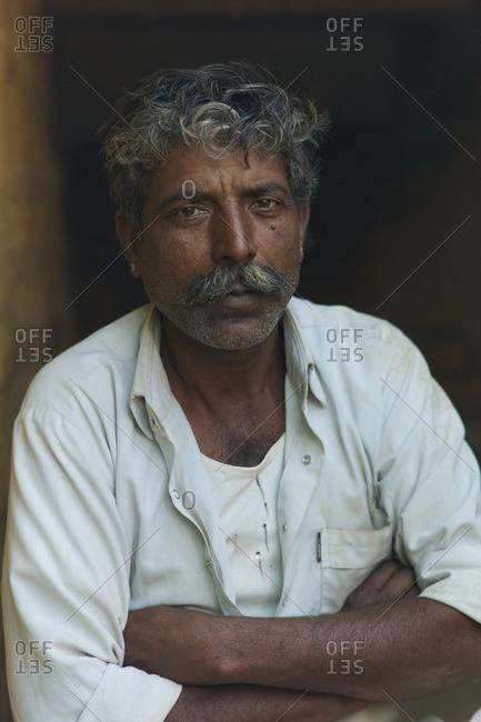 February 22, 2014: Portrait Of Rajasthani Man; Jodhpur, Rajasthan, India