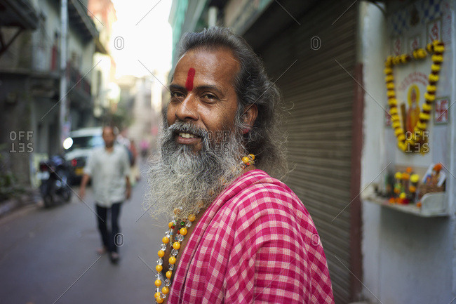 February 8, 2014: Portrait Of A Man On The Street; Kolkata, West Bengal, India