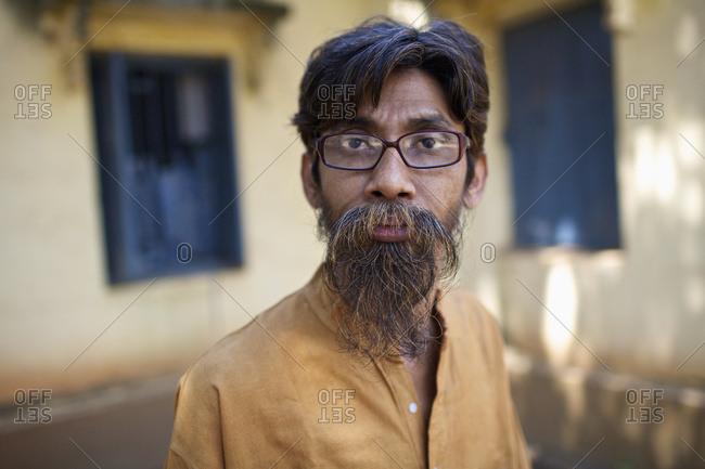 March 22, 2009: Portrait Of A Sculptor; Shantiniketan, West Bengal, India
