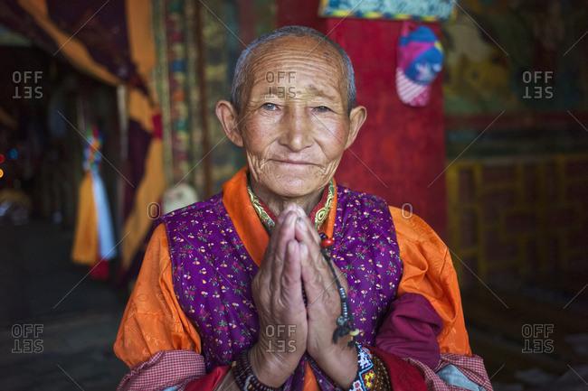 July 12, 2014: Tibetan Woman; Ganze, Sichuan, China