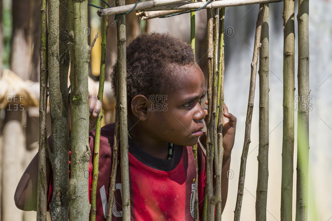October 4, 2013: Dani Boy, Baliem Valley, Central Highlands Of Western New Guinea, Papua, Indonesia