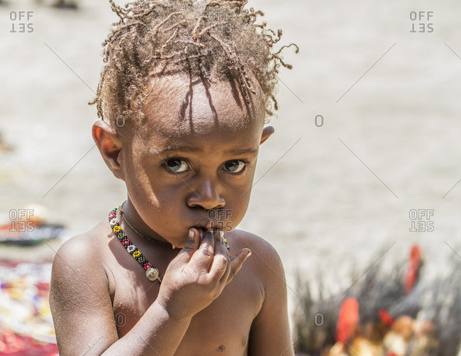 October 4, 2013: Dani Girl, Obia Village, Baliem Valley, Central Highlands Of Western New Guinea, Papua, Indonesia
