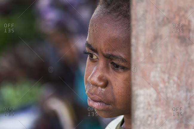 October 4, 2013: Boy At The Market, Wamena, Papua, Indonesia