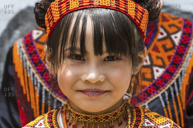 September 30, 2013: Girl In Traditional Torajan Dress Attending A Funeral Ceremony At A Rante, The Ceremonial Site For A Torajan Funeral, In Sereale, Toraja Land, South Sulawesi, Indonesia
