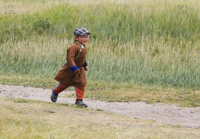 July 20, 2014: Boy At Erdene Zuu Monastery, Karakorum (Kharkhorin), �Ovorkhangai Province, Mongolia