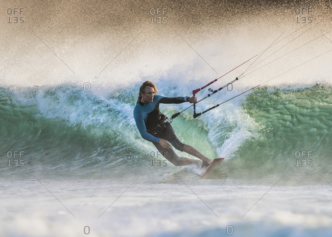 October 17, 2014: Kitesurfing; Tarifa, Cadiz, Andalusia, Spain
