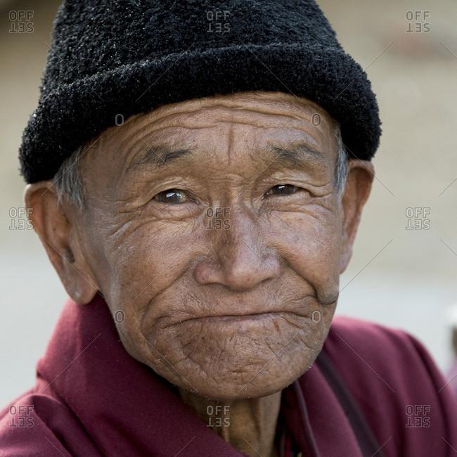 October 19, 2014: Portrait Of An Elderly Man; Paro, Bhutan