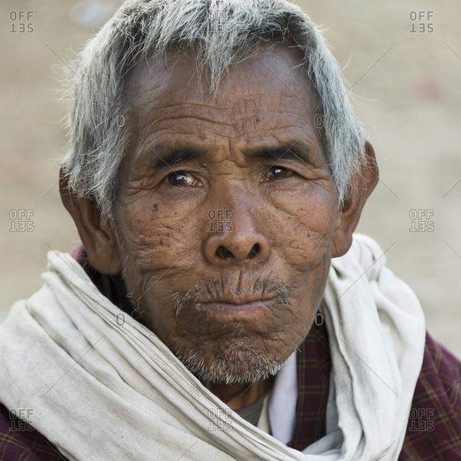 October 19, 2014: Portrait Of A Man With Grey Hair; Paro, Bhutan