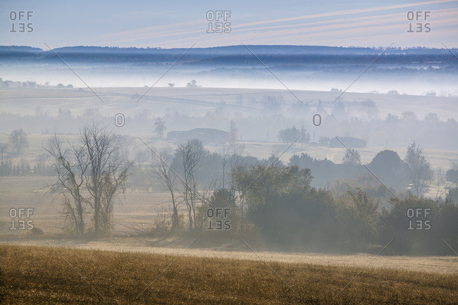 October 20, 2005: Early Morning Mist; Cookstown, Ontario, Canada