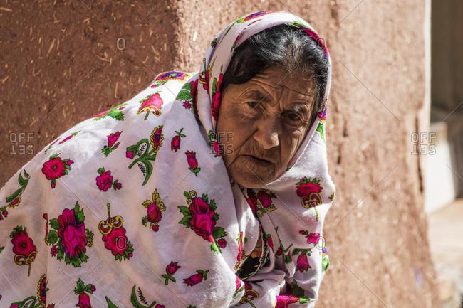 October 31, 2015: Abyanaki Elderly Woman; Abyaneh, Esfahan, Iran