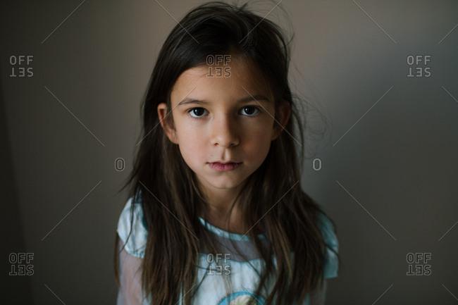Little girl with dark brown hair