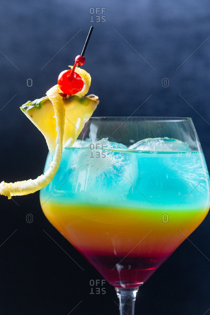 Multi-colored cocktail