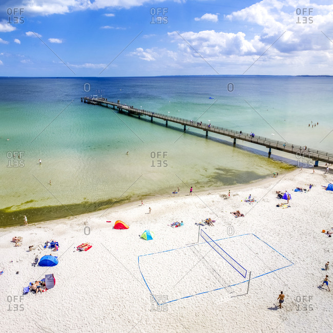 February 21, 2018: Germany- Schleswig-Holstein- Scharbeutz- coastal resort- beach