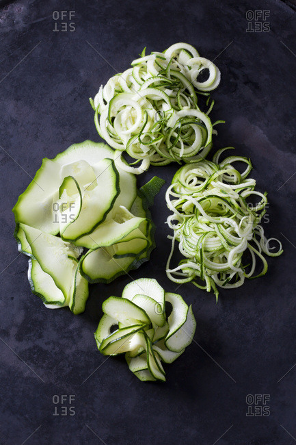 Spiralized courgette and Zoodles