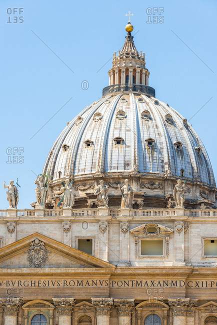 Italy- Rome- dome of St. Peter's Basilica