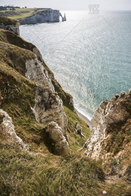 France- Normandy- Cote d'Albatre- rock coast of Etretat