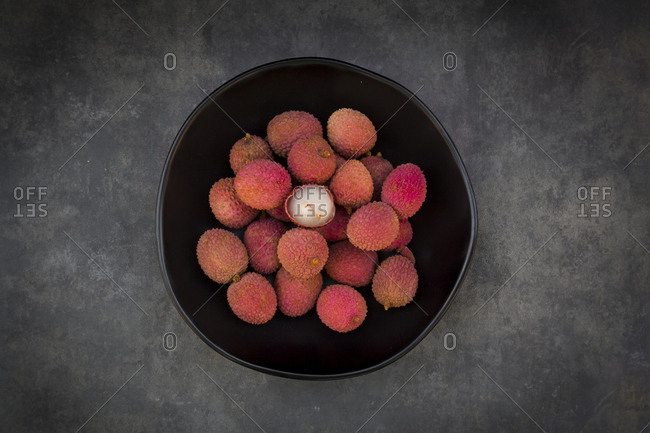 Lychee in bowl