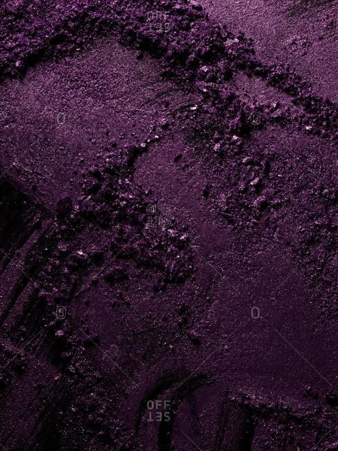 Close-up of purple makeup powder