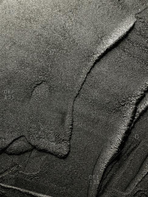 Close-up of grey makeup powder