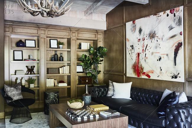 Bel Air, California - February 13, 2018: Living room interior